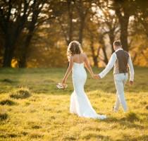 beautiful couple walking