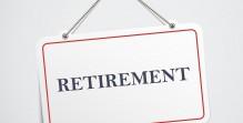 retirement hanging sign