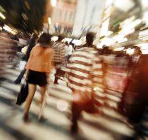 Tokyo Evening Commuting Street Concept