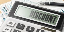 calculator with the word discount