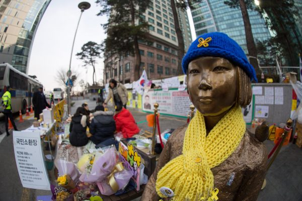 Visit to the Comfort Women protest monument in Seoul, near the Japanese Embassy