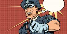 Vintage police officer COP arrests
