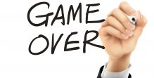 game over written by 3d hand