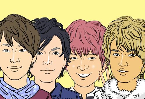 アイドルグループ『NEWS』小山慶一郎、加藤シゲアキ、増田貴久、手越祐也