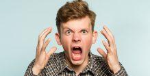fury emotional nervous breakdown man scream